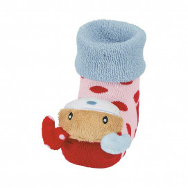 Sterntaler Baby socks with rattle Pink