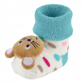Sterntaler Baby socks with rattle Mouse