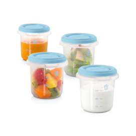 Miniland Set 4 containers 250 ml for food storage Blue 89238