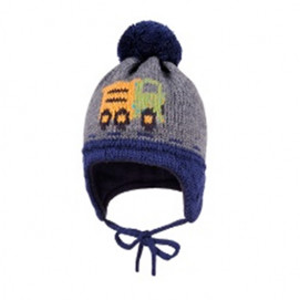 Maximo Winter Hat Truck Grey and Blue
