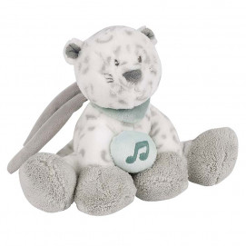 Nattou Mini musical snow Leopard 20cm.