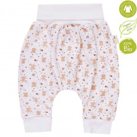Bio Baby Baby Jersey Pants harem style Ecru with print