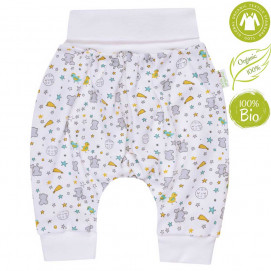 Bio Baby Baby Jersey Pants harem style with print