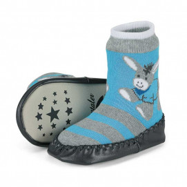 Sterntaler Children's socks with leather sole Blue