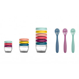 BabyМoov Set bowls for food with scoops