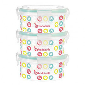 Badabulle Containers Set 300 ml pack of 3 pcs B004000