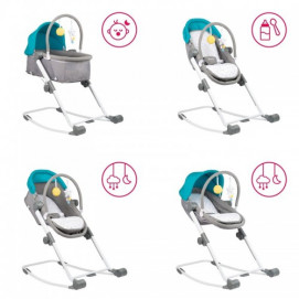 Badabulle Crib, Rocker and Highchair 4 in 1 COMPACT RELAX B012011
