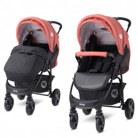 Lorelli Baby Stroller DAISY BASIC with footcover Black & Ginger Orange