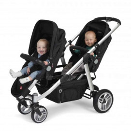 Topmark Stroller for twins 2 COMBI DUO BUGGY Black