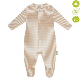 Bio Baby Baby Overalls Brown striped (50 to 74 cm)