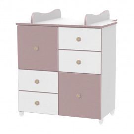 Lorelli Baby cupboard White and Cappuccino