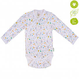 Bio Baby Baby bodysuits with long sleeves with print (50 to 74 cm)