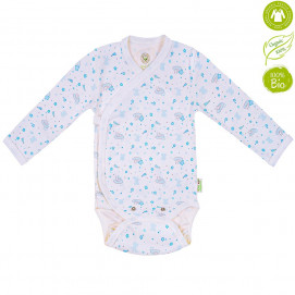 Bio Baby Baby bodysuits with long sleeves with Blue print (50 to 74 cm)