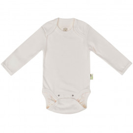 Bio Baby Baby bodysuits with envelope opening on shoulder Ecru