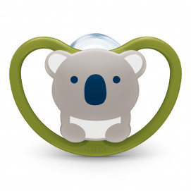 Nuk Silicone soother + box SPACE 18m+ Koala