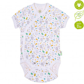 Bio Baby Baby bodysuits with short sleeves with print (50 to 74 cm)