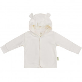 Bio Baby Baby jacket organic cotton hooded