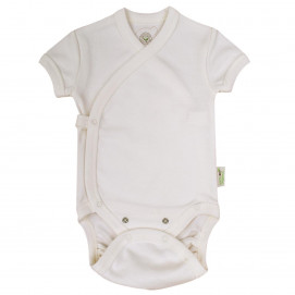 Bio Baby Baby bodysuits with short sleeves wrap style Еcru
