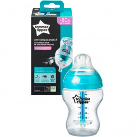 Tommee Tippee Feeding bottle ANTI-COLIC+ 260 ml. 0monts+ Transparent