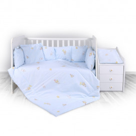 Lorelli Bedding set for bed TREND  Ranforce Bear Party Blue