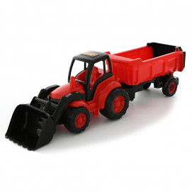 Polesie Tractor Champion with shovel and trailer red