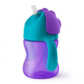 Philips Avent Cup with straw 200ml 9m+ Purple