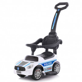 Chipolino Musical ride on car with handle POLICE