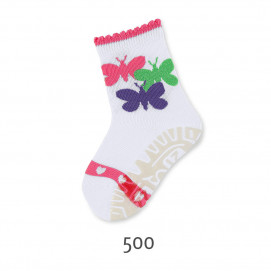 Sterntaler Stockings with silicone sole Butterflies