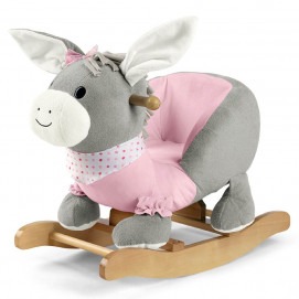 Sterntaler Children's wooden swing DONKEY Pink