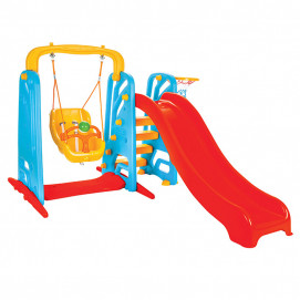 Pilsan Swing slide with Wavy red swing