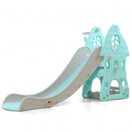 Moni Slide with basketball hoop ZIMBO 18010 Blue
