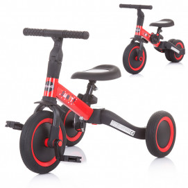 Chipolino Tricycle - Balance bike SMARTY 2 in 1 Red
