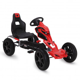 BYOX Karting with pedals ADRENALINE PVC Red