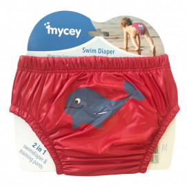 Mycey Baby diapers swimsuit (S, M, L) Red