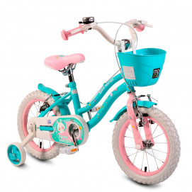 "Moni Children bicycle 14"" steel frame Turquoise"