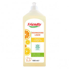 Friendly Organic Detergent for washing dishes with orange oil 1000ml.