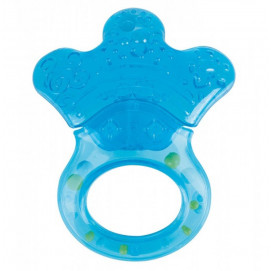 Canpol Water Teether with rattle Little paw blue