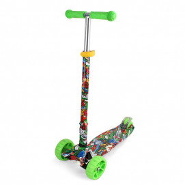 Chipolino Children scooter CROXER EVO Green Graffiti