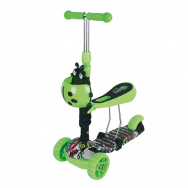 Chipolino Children scooter KIDDY EVO Green Graffiti