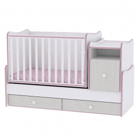 Lorelli Swinging Bed TREND PLUS 70/160 White/Pink crossline