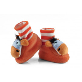 Attractive baby Warm baby booties with animal heads Attractive Baby