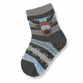 Sterntaler Socks with silicone sole grey