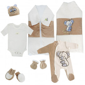 Baby Dji Newborn baby set 6 pcs Bear light brown Baby Dji