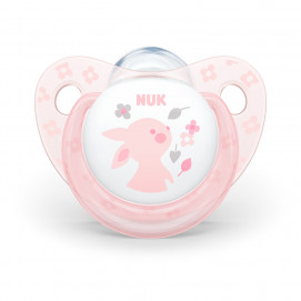 Nuk Pacifier silicone 0-6 m. Rose Bunny