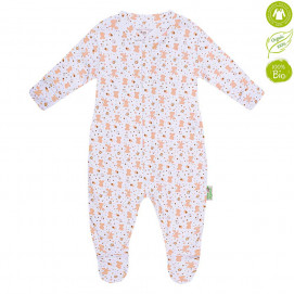 Bio Baby Baby Overalls with beige print (50 to 74 cm)