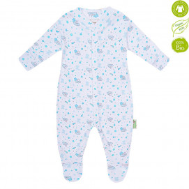 Bio Baby Baby Overalls with blue print (50 to 74 cm)