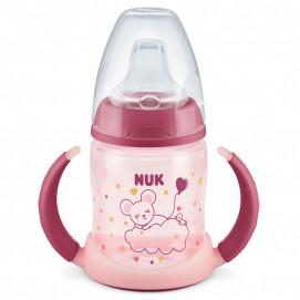 Nuk Juice bottle 150ml with silicone tip GLOW IN THE DARK Pink