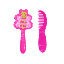 Lorelli Set brush and comb pink Butterfly