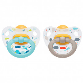 Nuk Latex pacifiers 0-6m. 2 pieces Happy Kids for boy