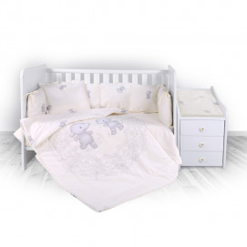 Lorelli Bedding set for bed TREND Ranforce Happy Hippo Ecru